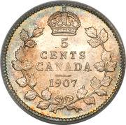 5 Cents - Edward VII -  reverse