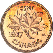 1 Cent - George VI (with ET IND:IMP:) – reverse