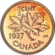 1 Cent - George VI (with ET IND:IMP:) – reverse