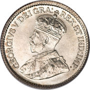 5 Cents - George V (with DEI GRATIA) -  obverse