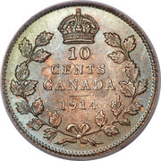 10 Cents - George V -  reverse
