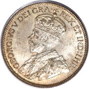 25 Cents - George V -  obverse