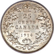 25 Cents - George V -  reverse