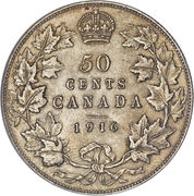 50 Cents - George V -  reverse