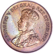 1 Cent - George V (small cent) -  obverse