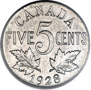 5 Cents - George V -  reverse