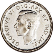10 Cents - George VI (with IND:IMP:) -  obverse