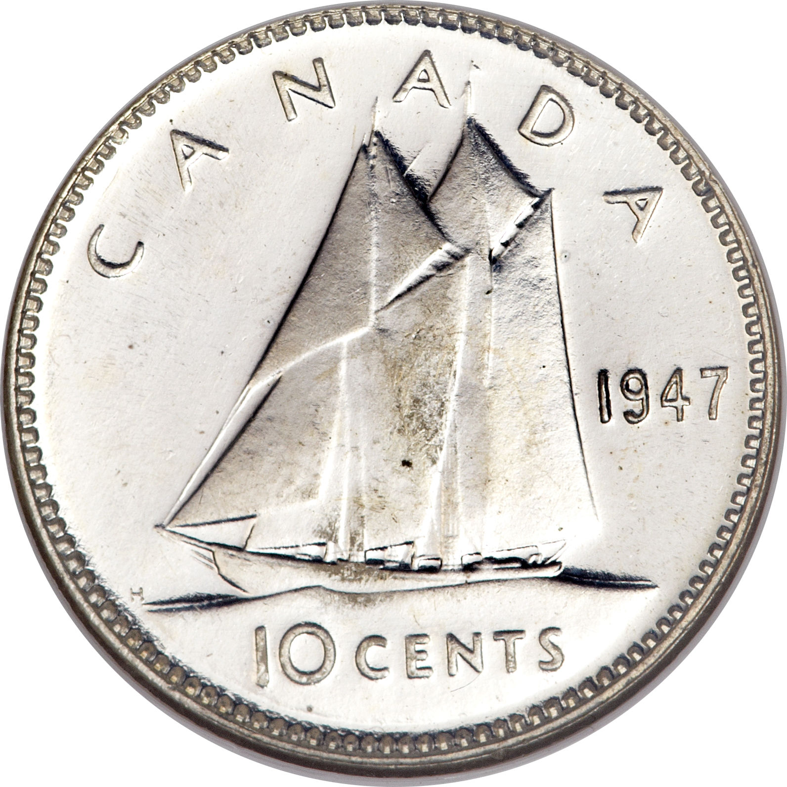 10 Cents - George VI (with IND:IMP:) - Canada – Numista