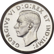 25 Cents - George VI (with IND:IMP:) -  obverse