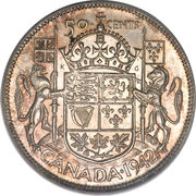 50 Cents - George VI (with IND:IMP:) -  reverse