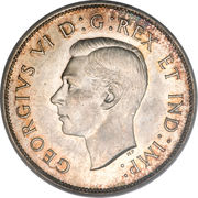 50 Cents - George VI (with IND:IMP:) -  obverse