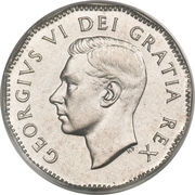 5 Cents - George VI (w/o IND:IMP:) -  obverse