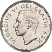 5 Cents - George VI (w/o IND:IMP:) -  obverse