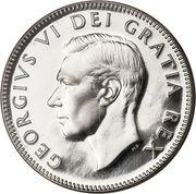 25 Cents - George VI -  obverse