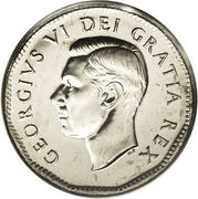 5 Cents - George VI (Discovery of Nickel) -  obverse