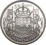 50 Cents - Elizabeth II (1st portrait, simplified coat of arms) -  obverse