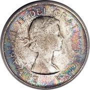 50 Cents - Elizabeth II (1st portrait, complete coat of arms) -  obverse