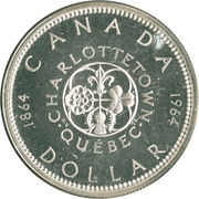 1 Dollar - Elizabeth II (Confederation Conferences) -  reverse