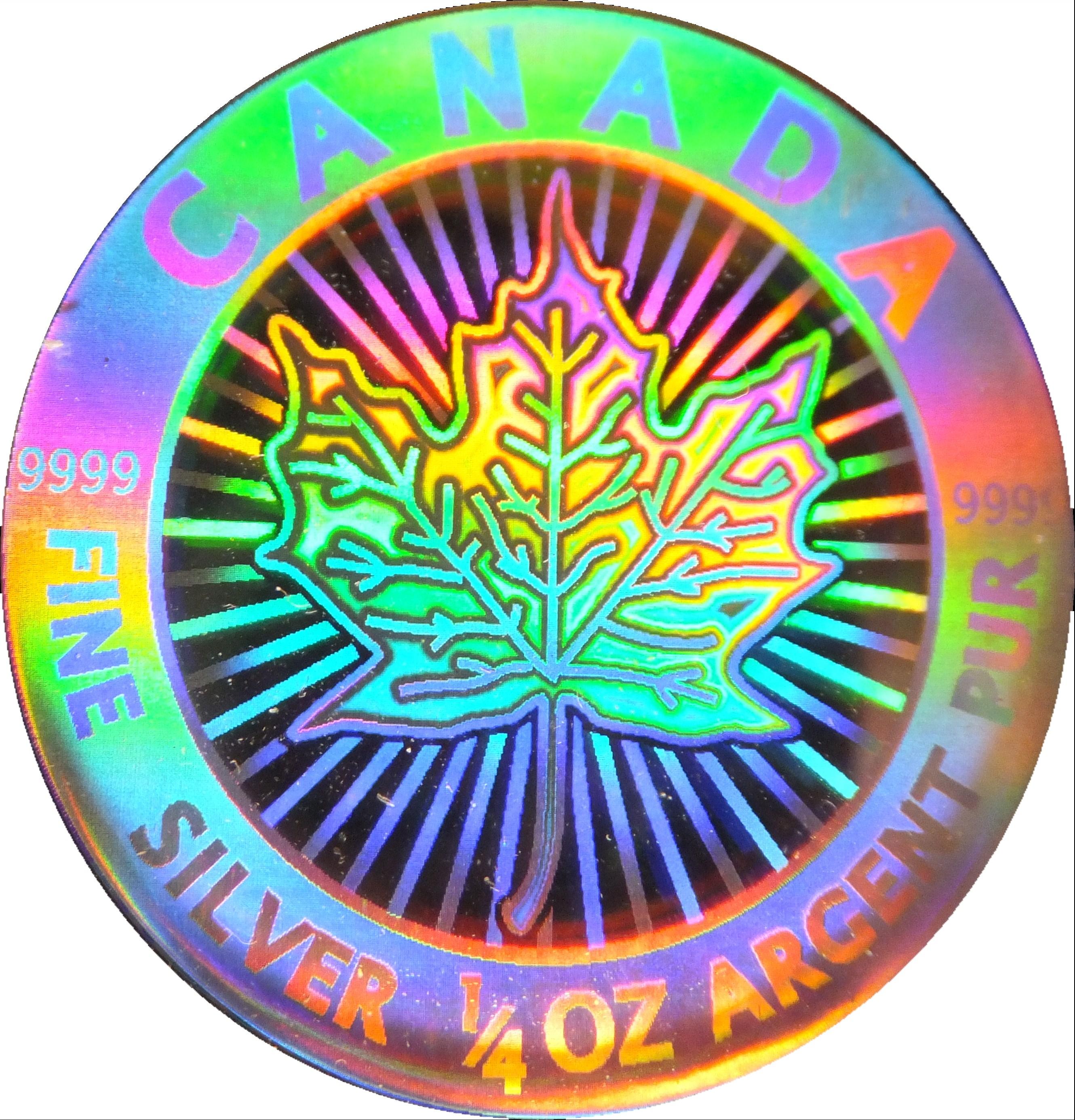 3 Dollars Elizabeth Ii Maple Leaf Hologram Canada