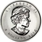 5 Dollars - Elizabeth II (4th portrait; 1 oz. Silver Bullion Coinage) -  obverse