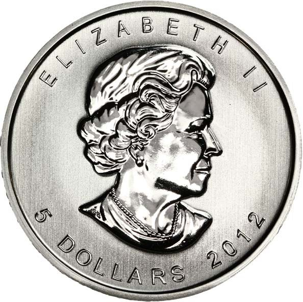 5 Dollars Elizabeth Ii 4th Portrait 1 Oz Silver