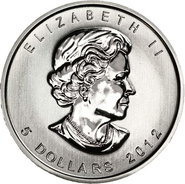 5 Dollars Elizabeth Ii 4th Portrait 1 Oz Silver