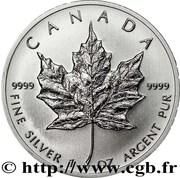 5 Dollars - Elizabeth II (4th portrait; 1 oz. Silver Bullion Coinage) -  reverse