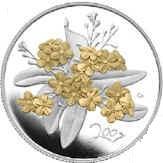 50 Cents - Elizabeth II (Golden Forget-Me-Not) -  reverse