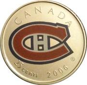 25 Cents - Elizabeth II (Montreal Canadiens) -  reverse