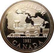1 Dollar - Elizabeth II (Trans-Canada Railway) -  reverse