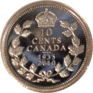 10 Cents Elizabeth Ii George V Canada Numista