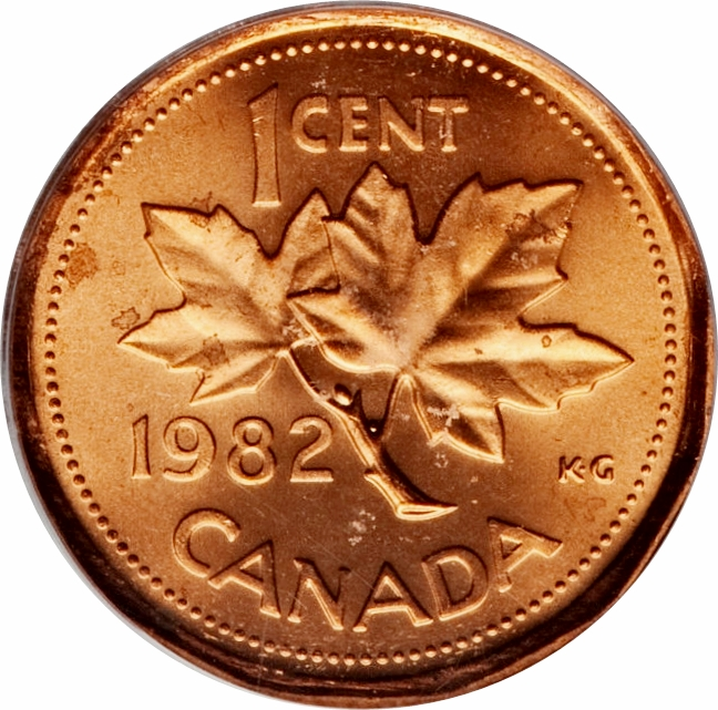 Canada 1985 Blunt 5  1 Cent Copper One Canadian Penny Coin