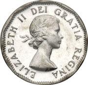 5 Cents - Elizabeth II (1st portrait, steel) -  obverse