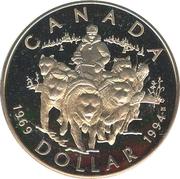1 Dollar - Elizabeth II (RCMP Northern Dog Team Patrol) -  reverse