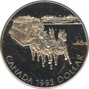 1 Dollar - Elizabeth II (Kingston Stagecoach) -  reverse