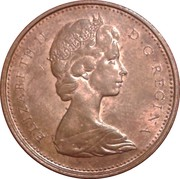 1 Cent - Elizabeth II (2nd portrait; heavy type) – obverse