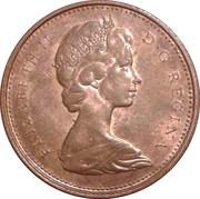 1 Cent - Elizabeth II (2nd portrait; heavy type) – obverse
