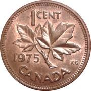 1 Cent - Elizabeth II (2nd portrait; heavy type) -  reverse