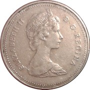 5 Cents - Elizabeth II (2nd portrait; copper-nickel) -  obverse