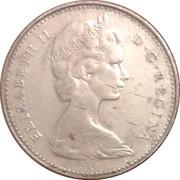 10 cents - Elizabeth II (2nd portrait, Silver (.500), Philadelphia mint) -  obverse