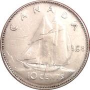 10 cents - Elizabeth II (2nd portrait, Silver (.500), Philadelphia mint) -  reverse