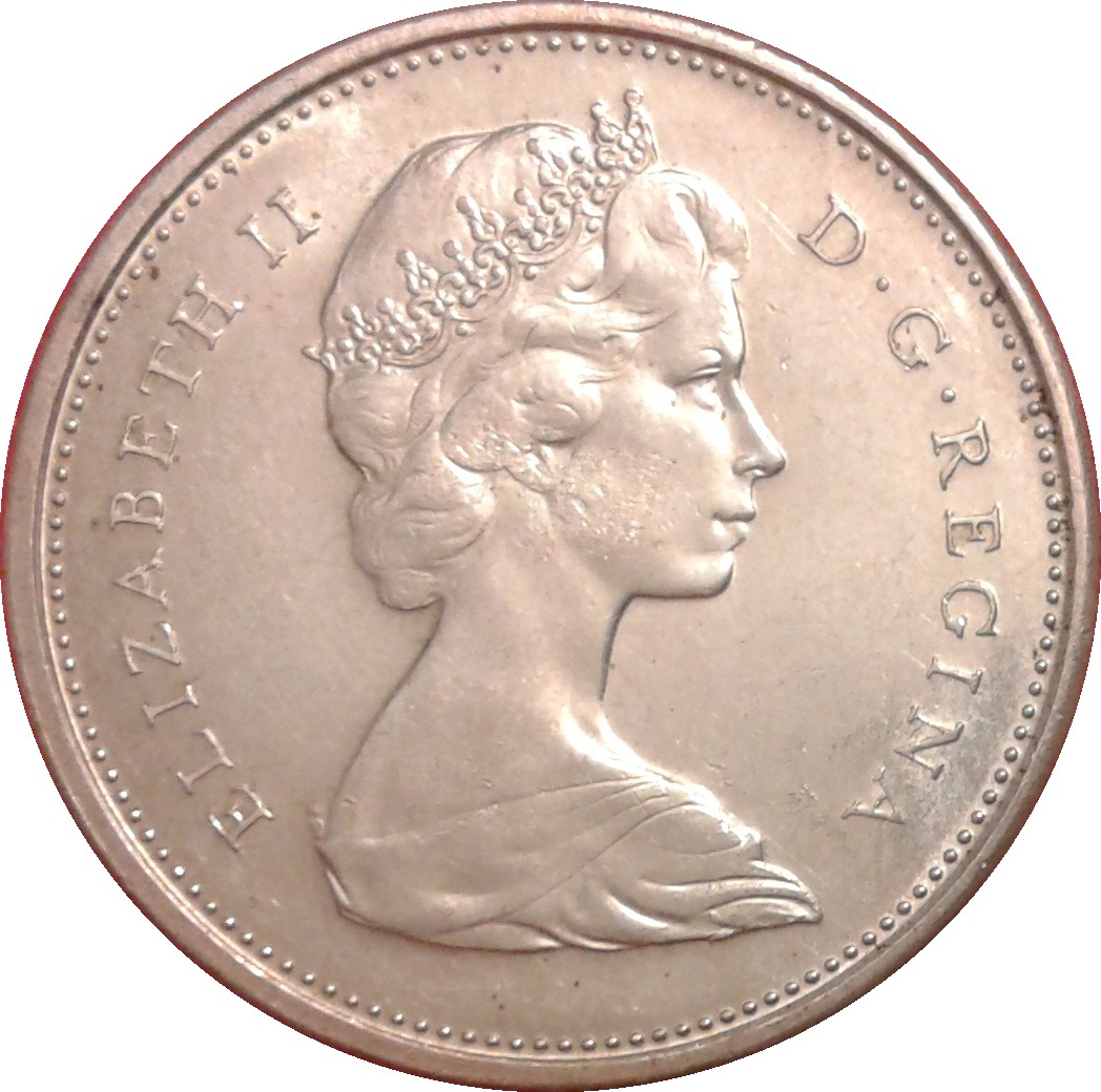 1967 Canada Silver Quarter 25 Cents BU Queen Elizabeth II Lynx Coin