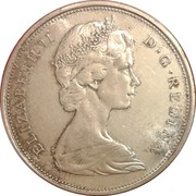 50 Cents - Elizabeth II (2nd portrait, silver) -  obverse