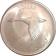1 Dollar - Elizabeth II (Confederation) -  reverse