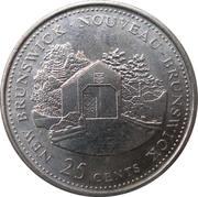 25 Cents - Elizabeth II (New Brunswick) -  reverse