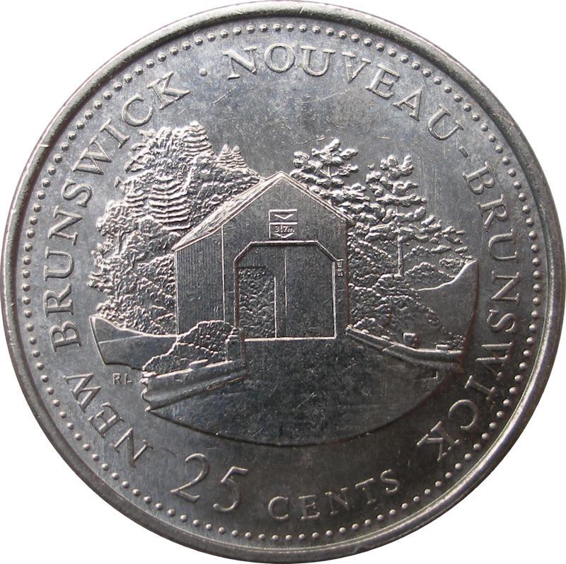 25 Cents Elizabeth Ii New Brunswick Canada Numista