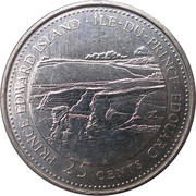 25 Cents - Elizabeth II (Prince Edward Island) -  reverse