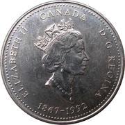 25 Cents - Elizabeth II (British Columbia) -  obverse