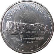 25 Cents - Elizabeth II (Quebec) -  reverse