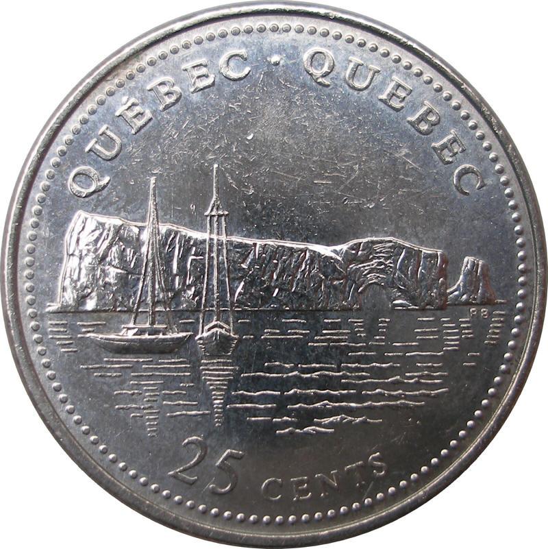25 Cents Elizabeth Ii Quebec Canada Numista